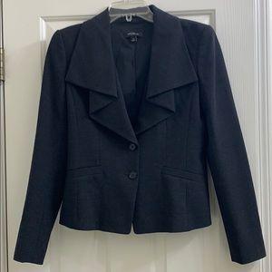 Ann Taylor dark charcoal blazer sz 4